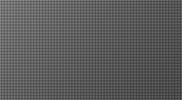 Trama dello schermo a led. sfondo tv pixel. monitor digitale lcd. illustrazione vettoriale.