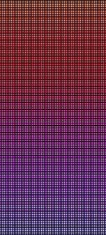 Trama led. schermo pixel. display digitale. effetto diodo elettronico. monitor lcd con punti. illustrazione vettoriale. videowall arancione viola blu. modello di griglia del proiettore con lampadine. sfondo televisivo