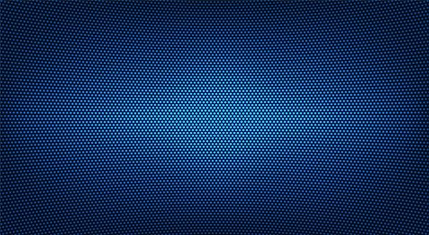 Trama di tv led. display digitale. videowall blu. monitor lcd con punti. schermo pixel. effetto diodo elettronico.