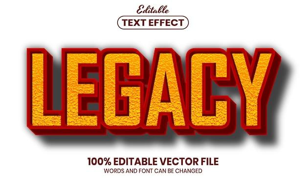 Testo legacy, effetto testo modificabile in stile carattere