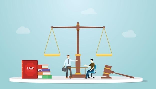 L'avvocato di consulenza legale fornisce la consultazione con l'uomo d'affari