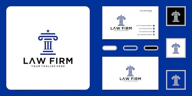 Design del logo della giustizia legale e ispirazione per i biglietti da visita