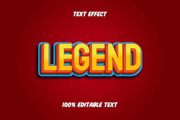 Effetto di testo modificabile con legenda