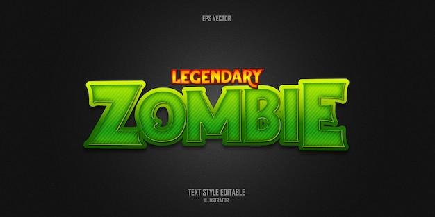 Leggendario effetto stile testo zombie