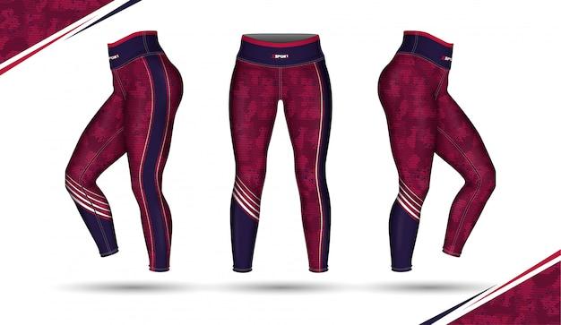 Pantaloni leggings allenamento moda illustrazione con la muffa