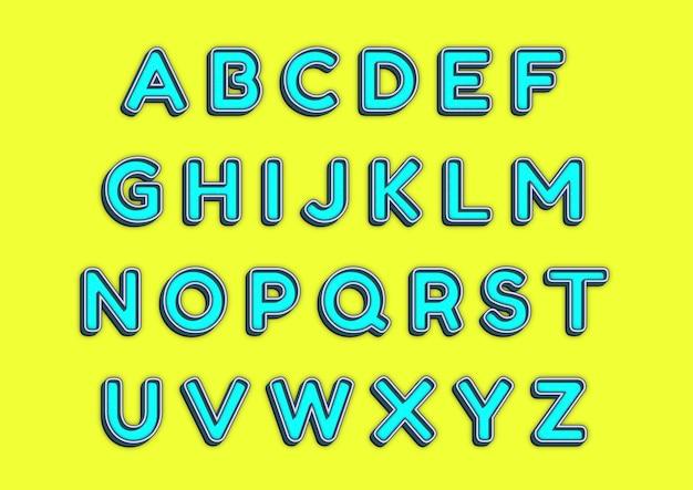 Set di alfabeti di pezzi di giocattoli lego