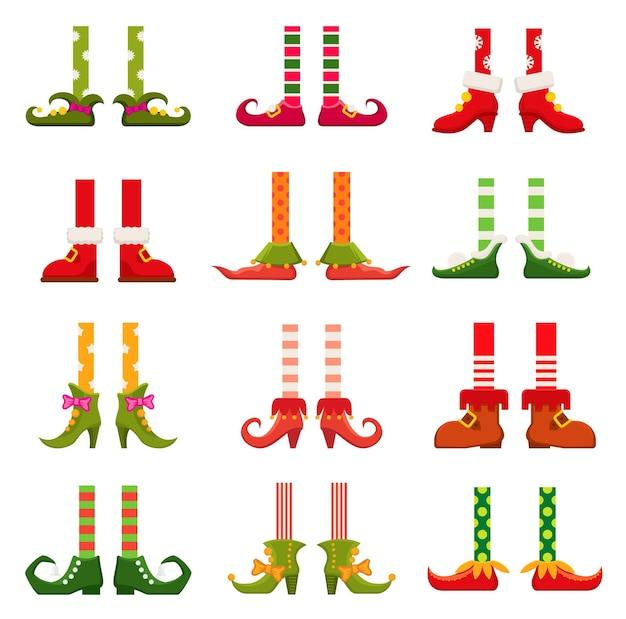 Gambe di gnomo, elfo o gnomo nano con gli stivali