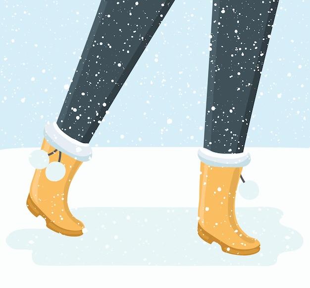 Gambe della persona che cammina