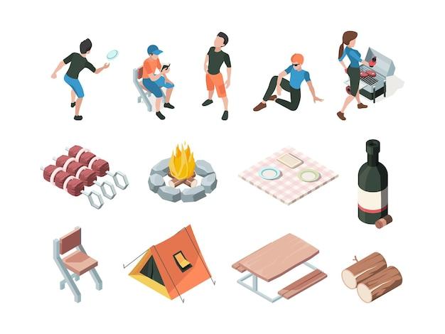 Set di elementi per il tempo libero e picnic