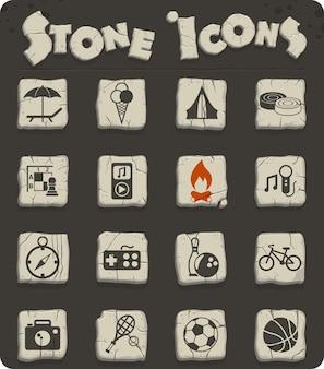 Icone vettoriali per il tempo libero per il web e la progettazione dell'interfaccia utente