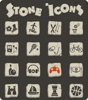 Icone web per il tempo libero per la progettazione dell'interfaccia utente