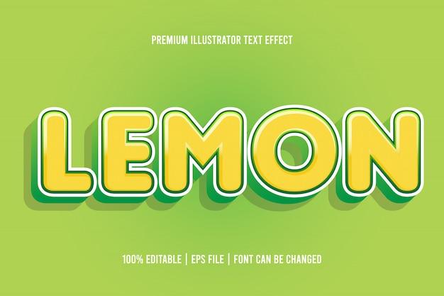 Effetto di testo modificabile al limone
