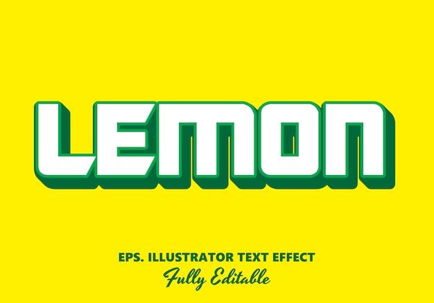 Limone effetto testo modificabile