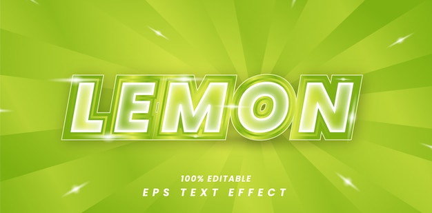 Effetto di testo modificabile limone