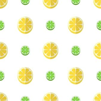 Illustrazione senza cuciture del modello della frutta del limone