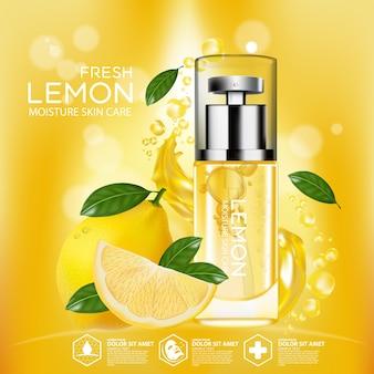 Limone frutta siero idratazione cura della pelle cosmetica