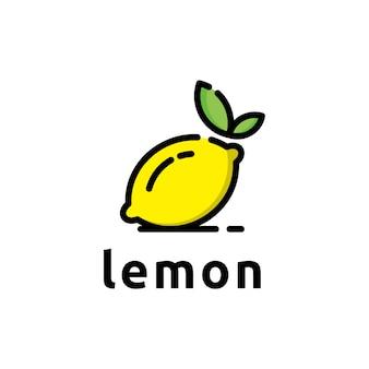 Progettazione grafica di idea di simbolo di logo di limone