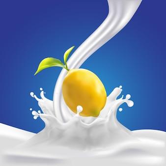 Spruzzata di limone e latte