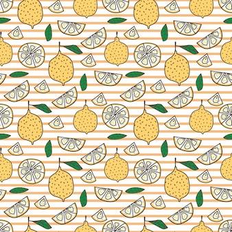 Fondo senza cuciture limone