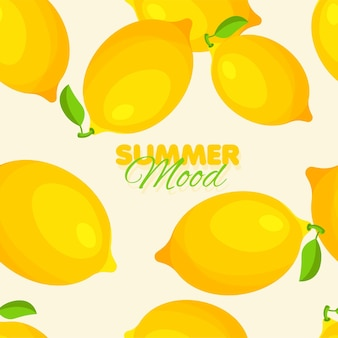 Reticolo senza giunte di limone summer mood