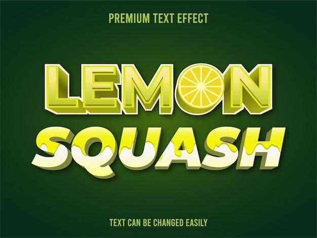 Effetto testo lemon squash
