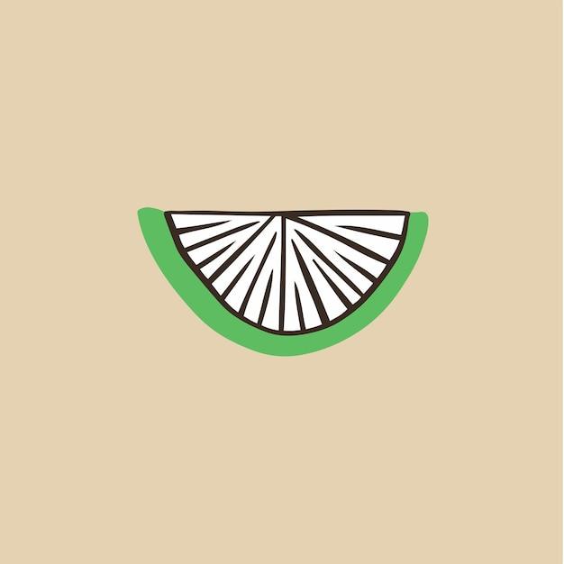 Simbolo del limone social media post fruit vector illustration