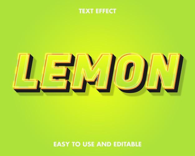 Effetto testo limone. stile del carattere modificabile.
