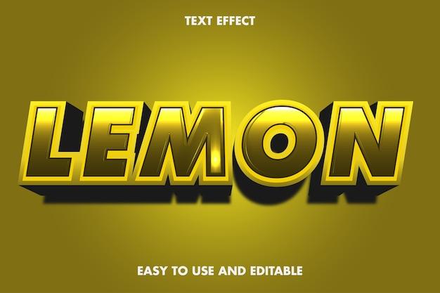Effetto testo limone. stile carattere modificabile.