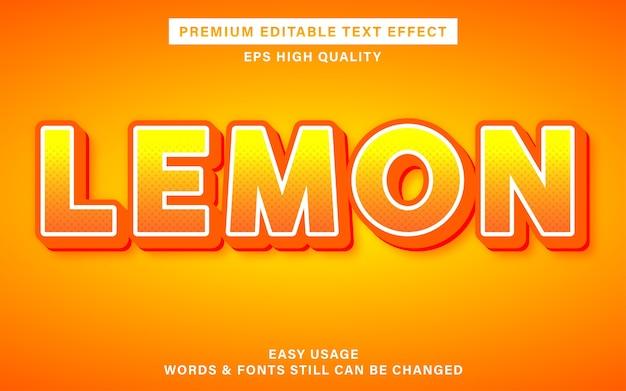 Stile effetto testo limone
