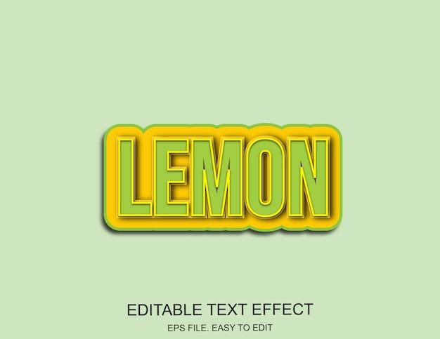Effetto testo limone