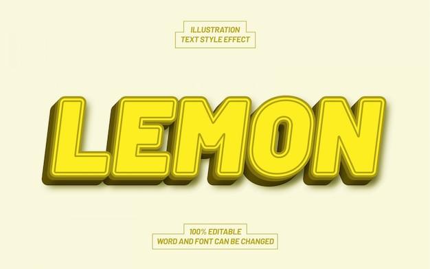 Effetto stile testo limone