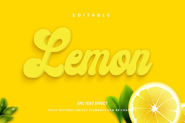 Effetto testo giallo limone