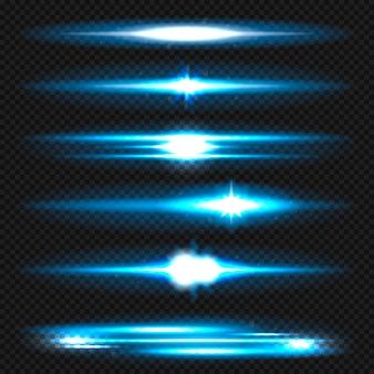 Set di razzi lente Vettore Premium