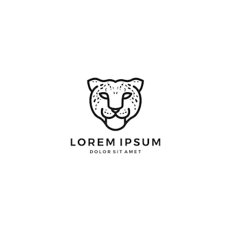 Logo della testa del leopardo