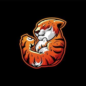 Illustrazione del design del logo del leopardo