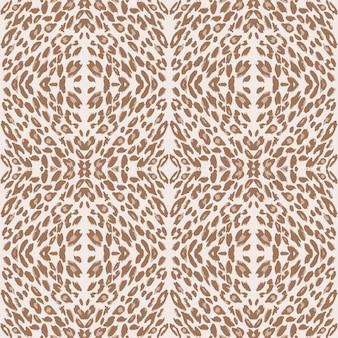 Pelle fantasia leopardata. ripeti il motivo animale.