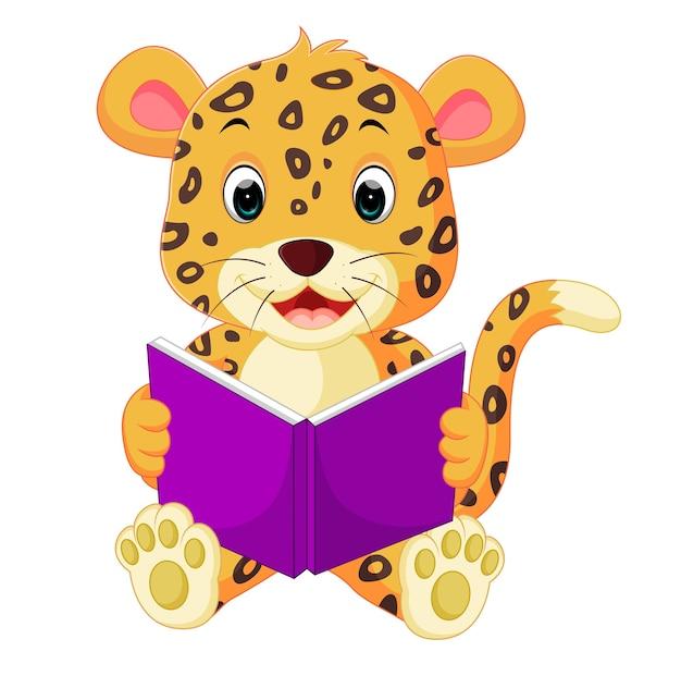 Libro di lettura leopardo