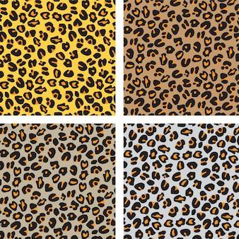 Modello di pelle di leopardo Vettore Premium