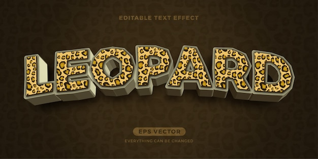 Effetto testo leopardo