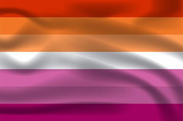 Bandiera lesbica per l'illustrazione vettoriale gratuita lgbtq