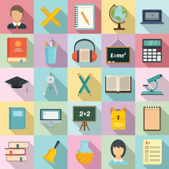 Set di icone di lezione