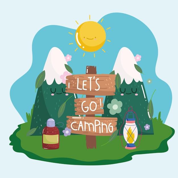 Andiamo in campeggio nella natura
