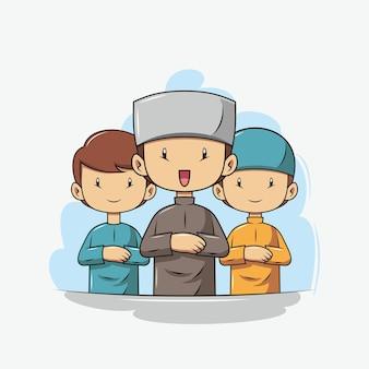 Preghiamo per l'illustrazione del ramadan