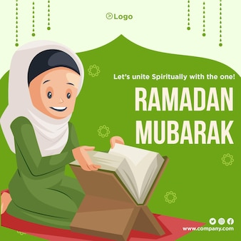Uniamoci spiritualmente con l'unico design del banner del ramadan mubarak