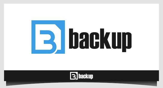 Lettera b per il modello di progettazione del logo di backup