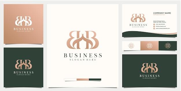 Lettera b simbolo di bellezza logo design