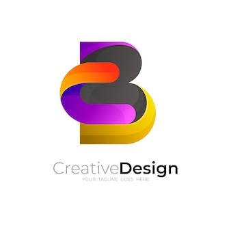 Logo della lettera b e combinazione di design c