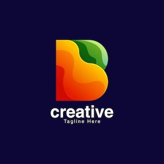 Modello di progettazione del logo della lettera b