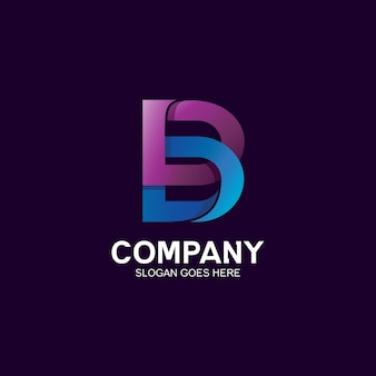 Disegno del logo della lettera b