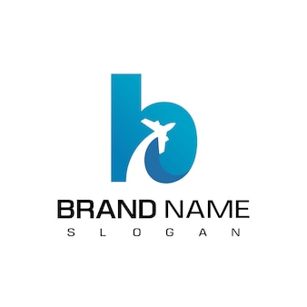 Logo di viaggio della lettera b.